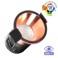 Encastrável LED 5W Cromo pérola Bridgelux Chip - 40° - UGR11 Area-led - Downlights Led