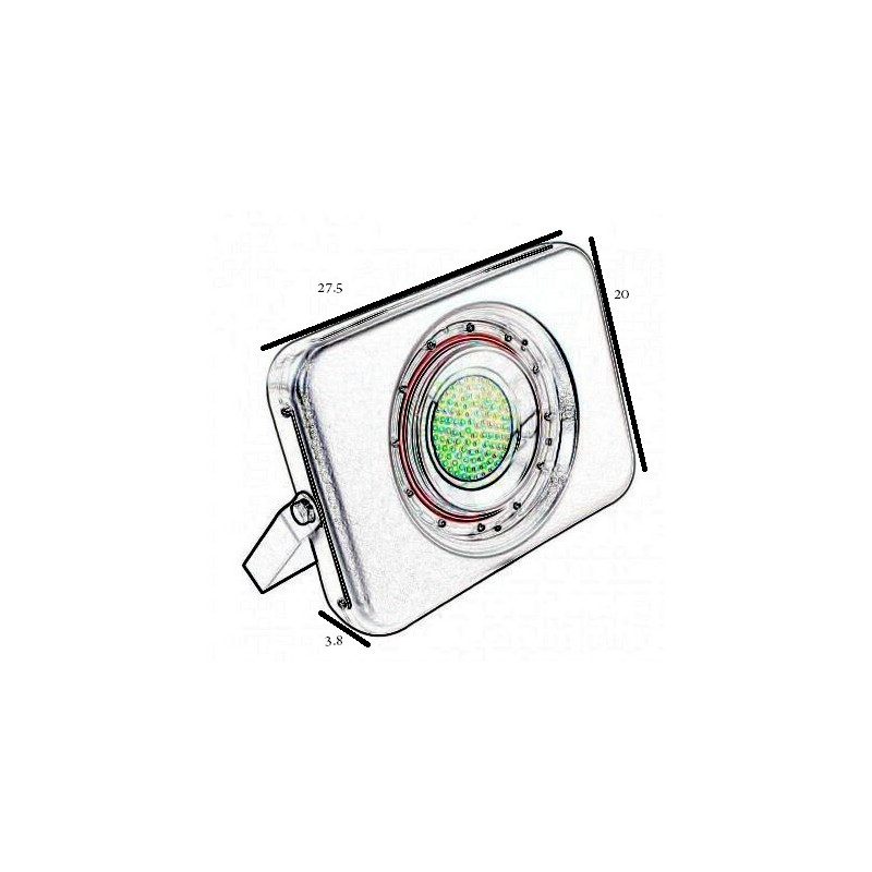 Focos led 50w new unique led flood light w aluminum for Focos led exterior 50w
