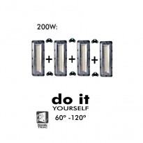 Projector DIY 200W 60º y 120º IP20 - Iluminación LED