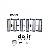 Projecteur DIY 300W 60º y 120º IP20 - Iluminación LED