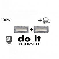 CampĂ¢nula LED DIY 150W 60º e 120º SMD 3030 -3D - Campânula Led Diy