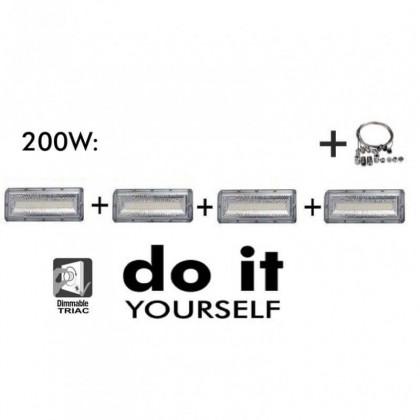 CampĂ¢nula LED DIY 200W 60º e 120º SMD 3030 -3D