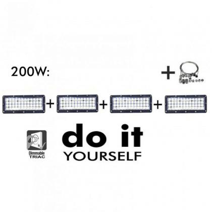 CampĂ¢nula DIY 200W 60° e 120° SMD 3030 -3D
