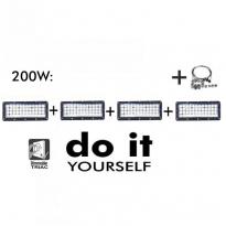 Campana LED DIY 200W 60º 6000K SMD 3030 -3D Area-led - Iluminación LED