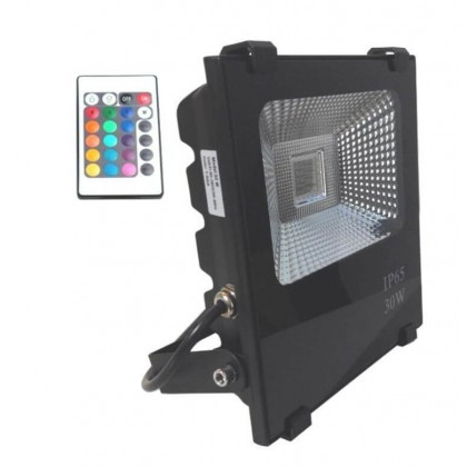 Foco Proyector Exterior LED 30W RGB PROFESIONAL Area-led