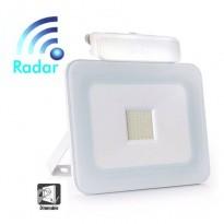 Foco Proyector Exterior 20W LED Luxury RADAR Blanco Area-led