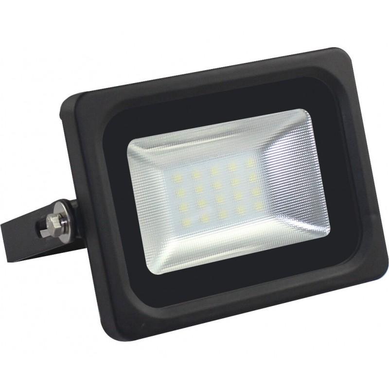 Foco projector exterior preto 10w ip65 elegance for Foco led exterior 10w