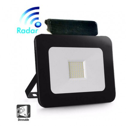 Foco Proyector Exerior 20W LED Luxury RADAR Negro Area-led