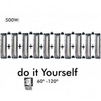 Proyector DIY 500W 120º 6000K SMD 3030 -3D- - Proyectores Led Exterior Y Jardin