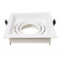 Anel branco circular ajustĂ¡vel para LED dicroico GU10 - MR16 - Lamparas Y Bombillas Led