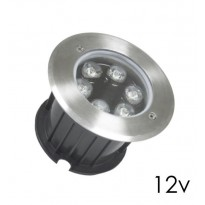 Foco LED 6W empotrable suelo y pared IP68 3000K Area-Led 12V