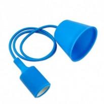 Portalámparas Azul colgante E27 Area-led