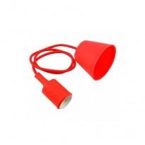 Portalámparas Rojo colgante E27 Area-led