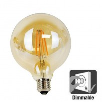 Bulbo Dimmable Ballon LED Filamento 6W G125 E27