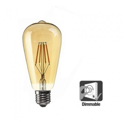 Bulbo Dimmable Pêra LED Filamento 6W E27