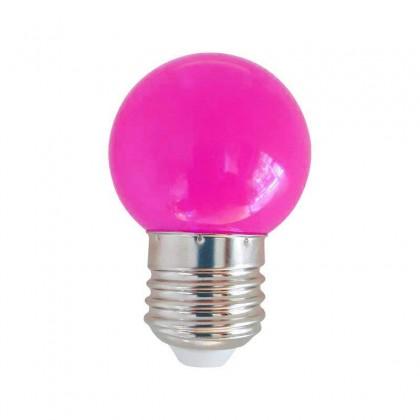Bombilla LED 1W Rosa E27 Area-led