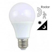 Bombilla LED 7W Detector Movimiento Radar+ Crepuscular E27 Area-led