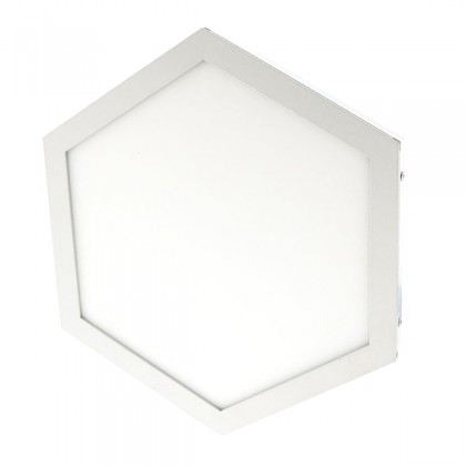 Plafón Combinable Hexagonal Superficie cuadrado 10W Area-led