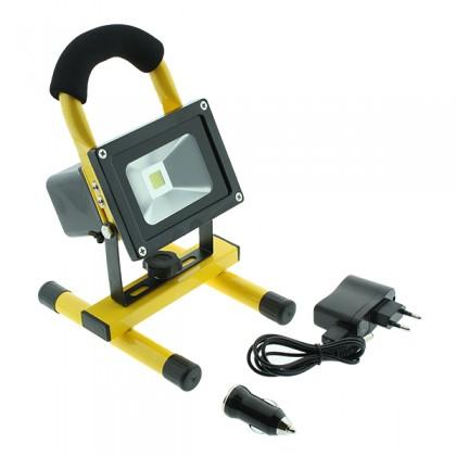 Foco proyector LED PORTATIL con batería 10W 6000k