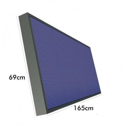 RĂ³tulo electrĂ´nico P10 RGB IP65 1.65*0.69m