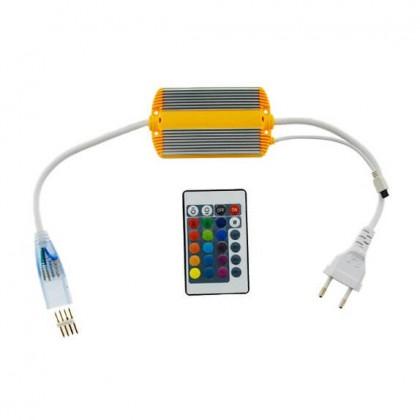 Controladora Neón LED RGB 220V 8.5W con mando Area-led