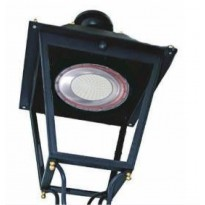 Farol LED Villa de ferro + Placa LED 50W