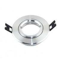 Aro plata circular orientable para para MR16-GU10 Area-led - Iluminación LED