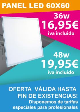 Oferta hasta fin de existencias de panel led 60x60 48w y 36w