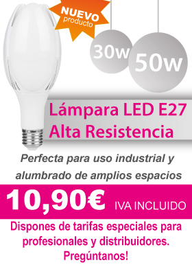 Nueva lampara de alta resistencia E27