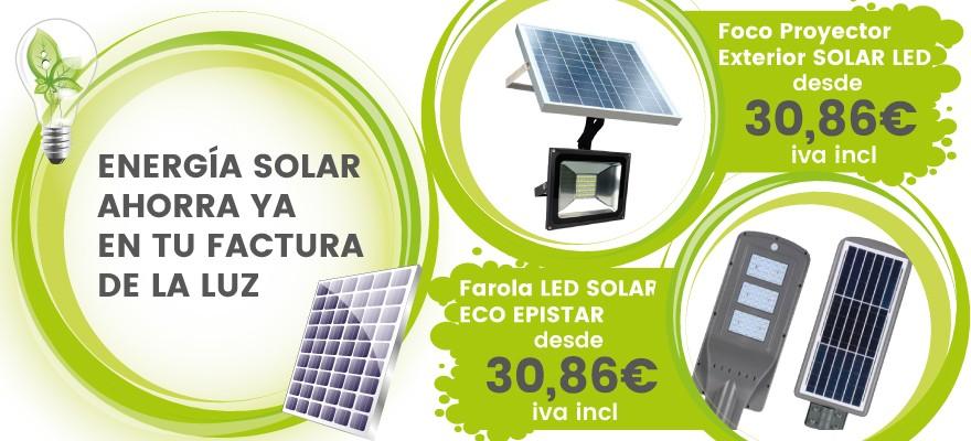 Apúntate a la iluminación solar y ahorra en tu factura de la luz