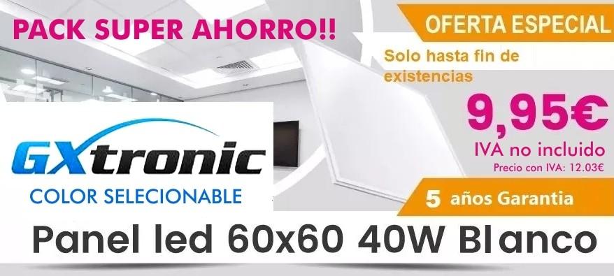 Super Ahorro en Paneles LED A 9.95€+iva