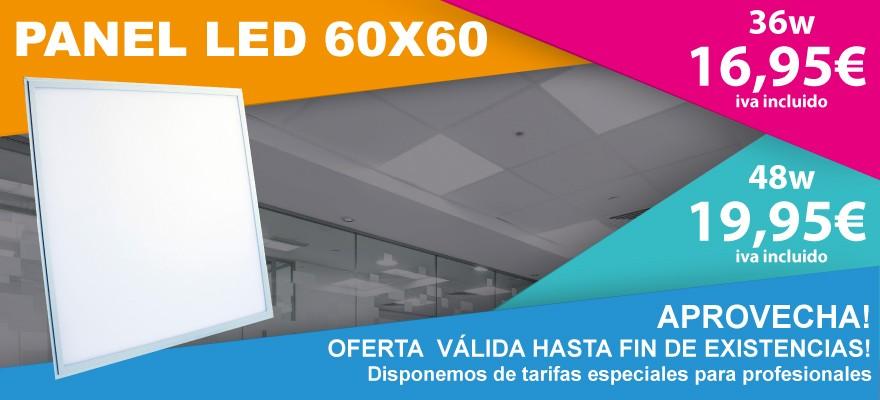 Oferta hasta fin de existencias en paneles led 60x60