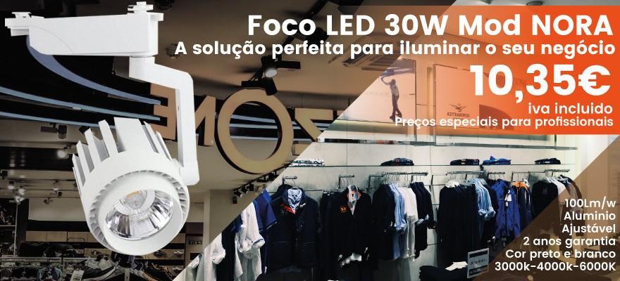 Foco led 30w modelo nora