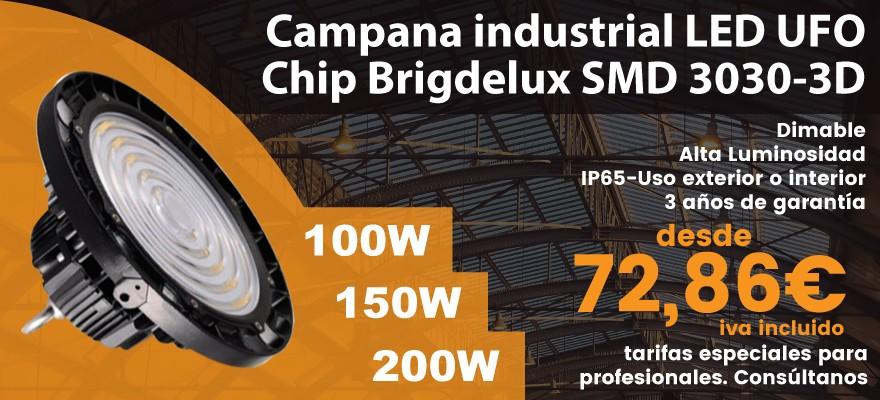 Campanas led UFO Chip Brigdelux 3030-3D alta luminosidad